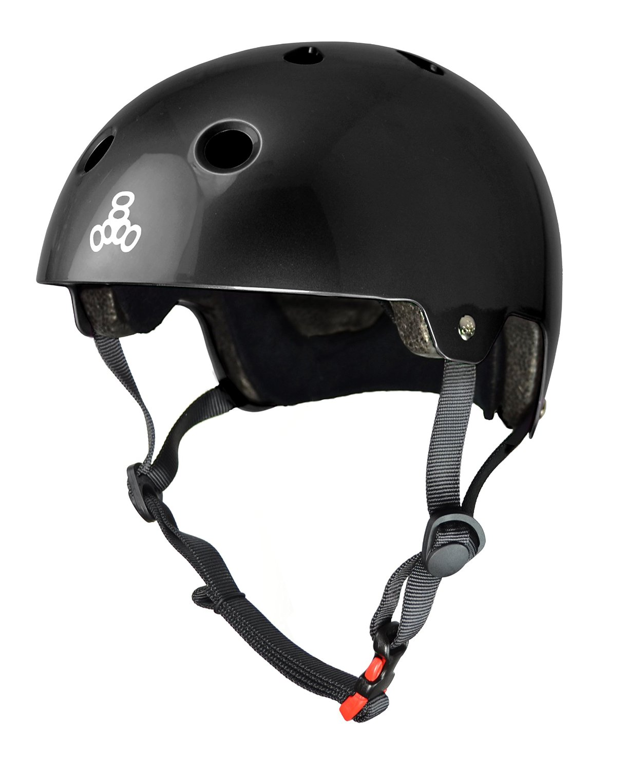 Black Triple Eight Bicycle Helmets
