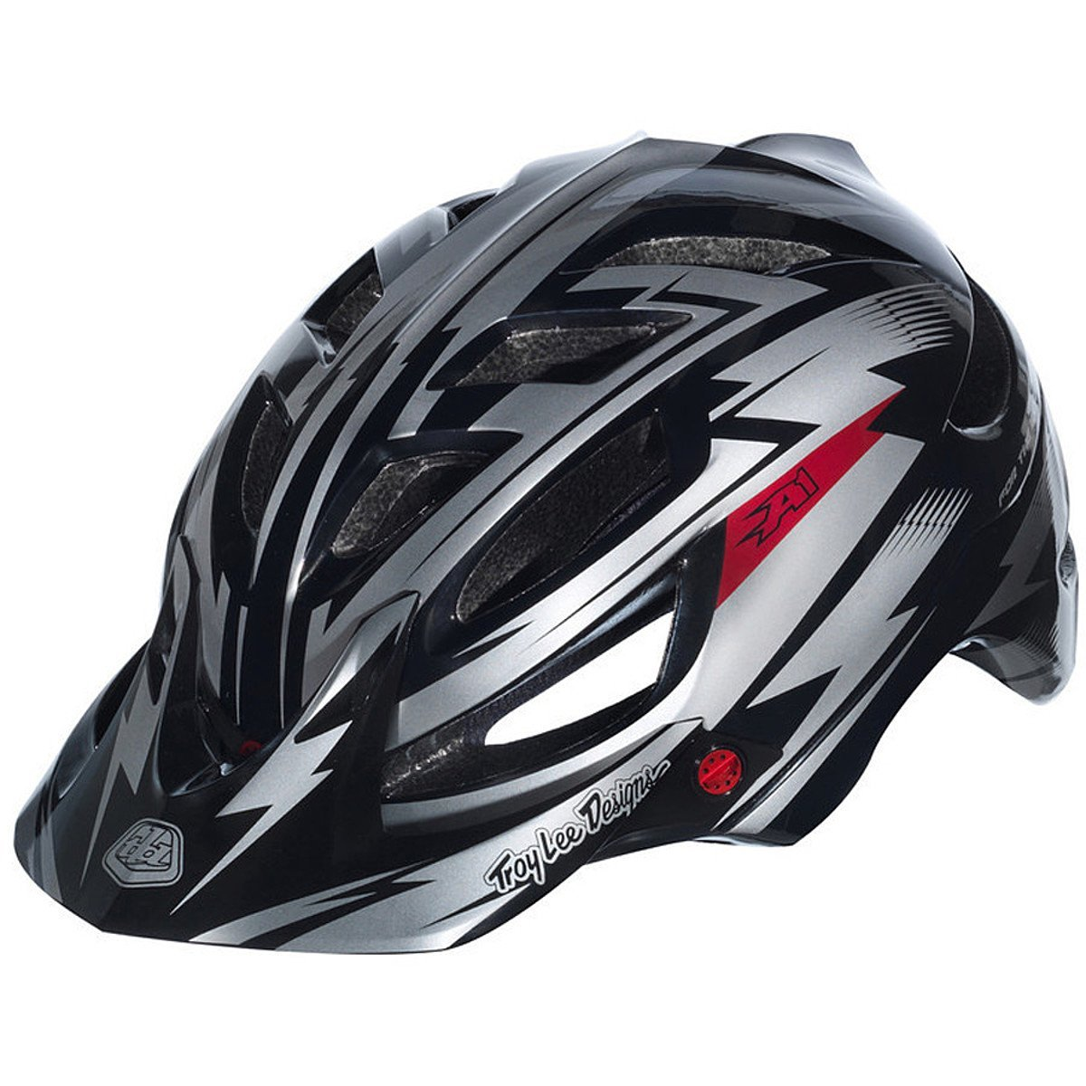 Black Troy Lee Designs Bicycle Helmets