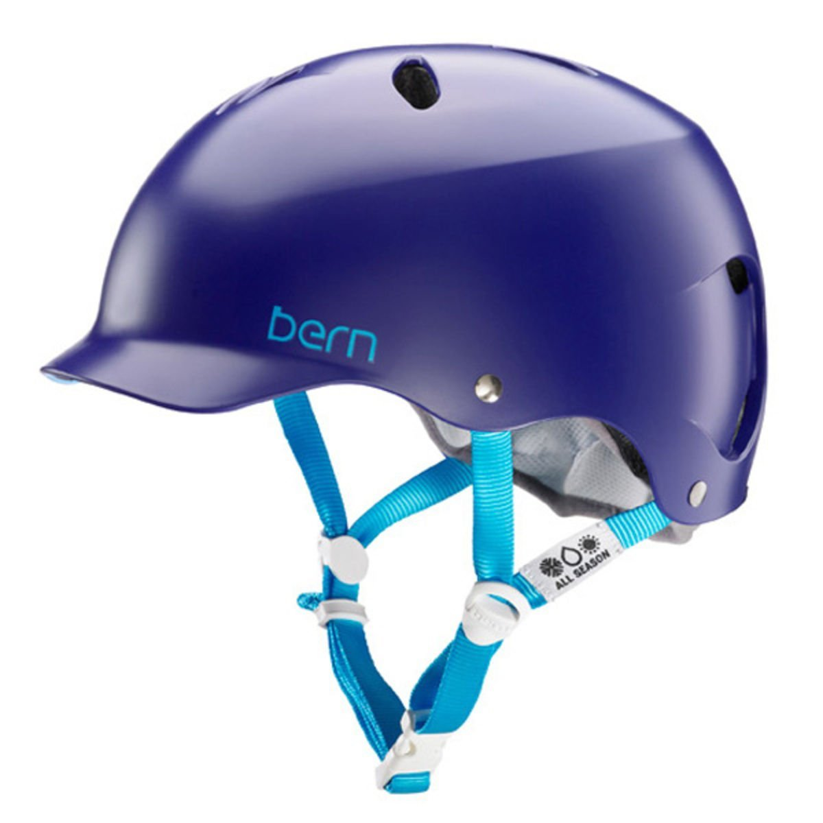 Blue Bern Bicycle Helmets