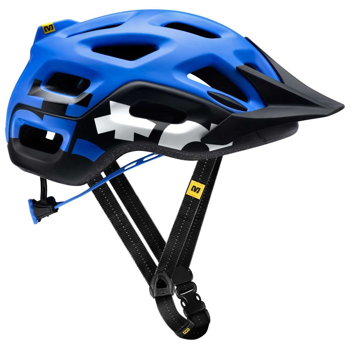 Blue Mavic Bicycle Helmets