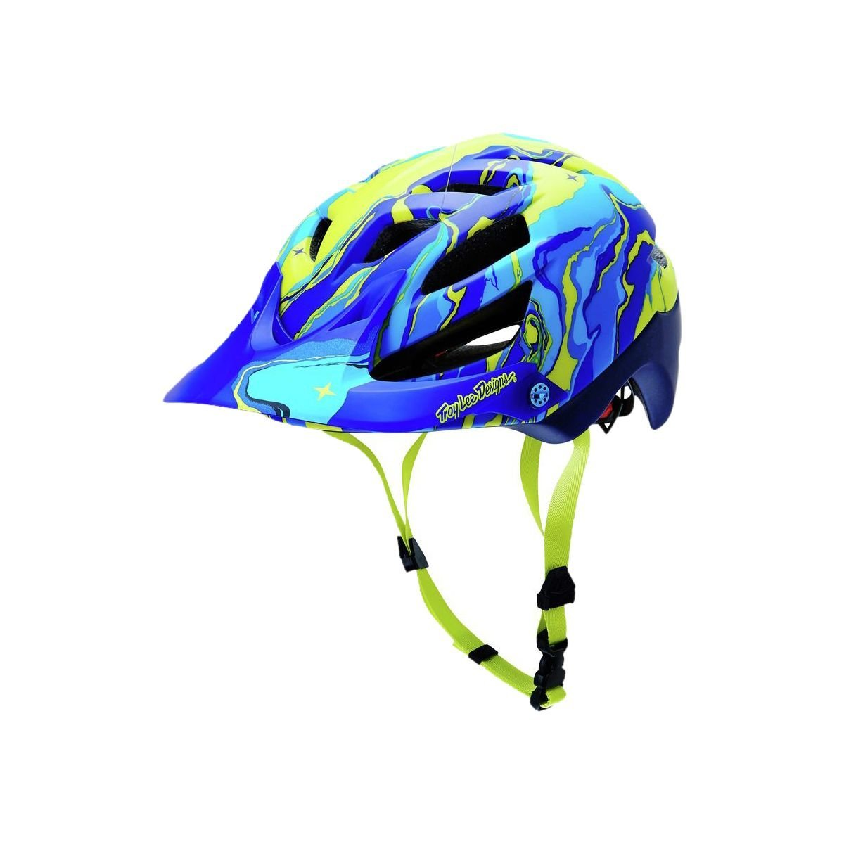 Blue Troy Lee Designs Bicycle Helmets