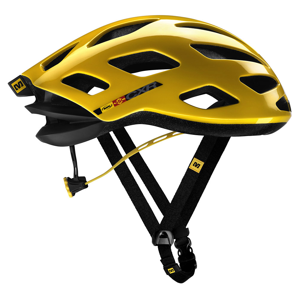 Gold Mavic Bicycle Helmets