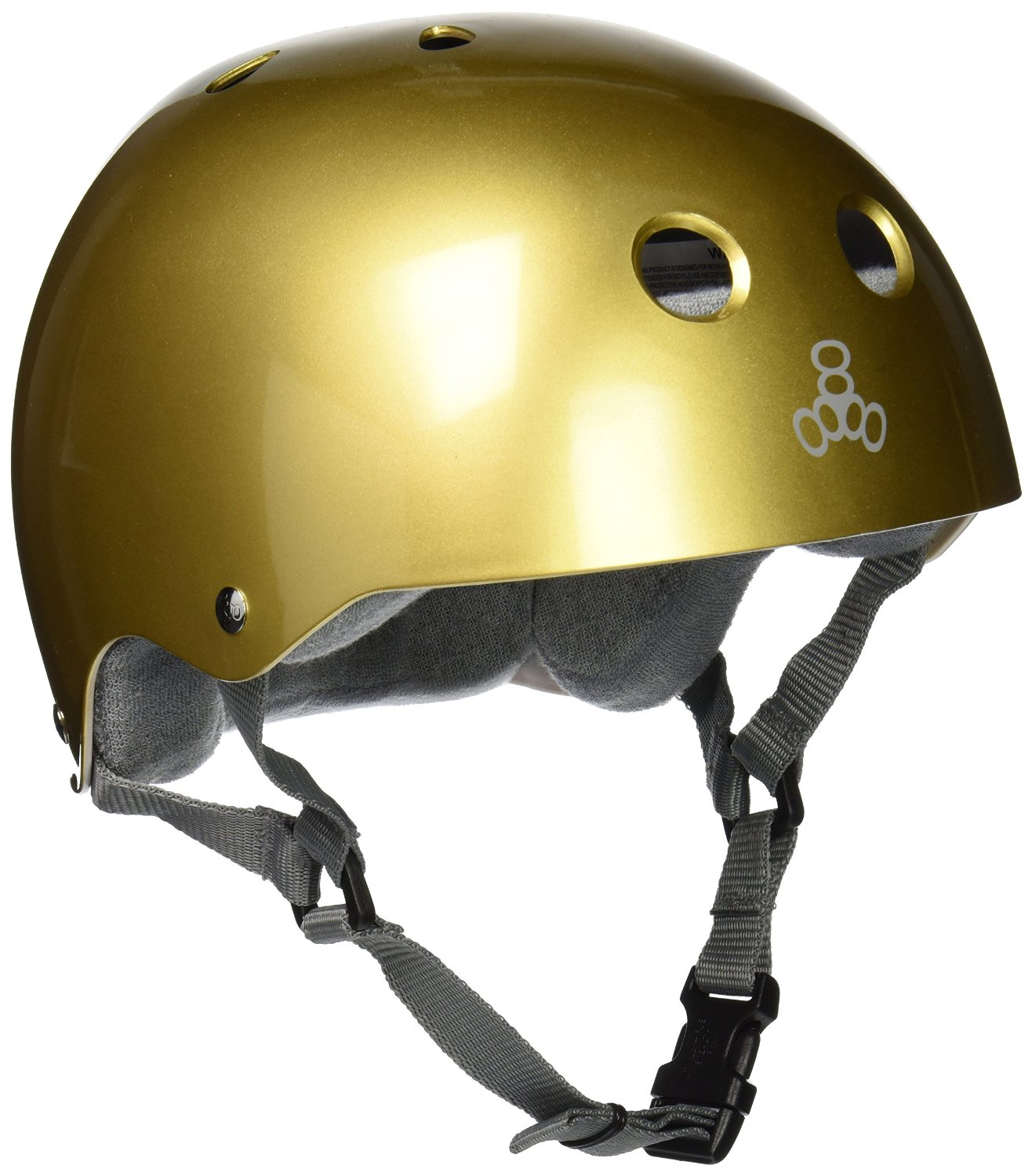 Gold Triple Eight Bicycle Helmets