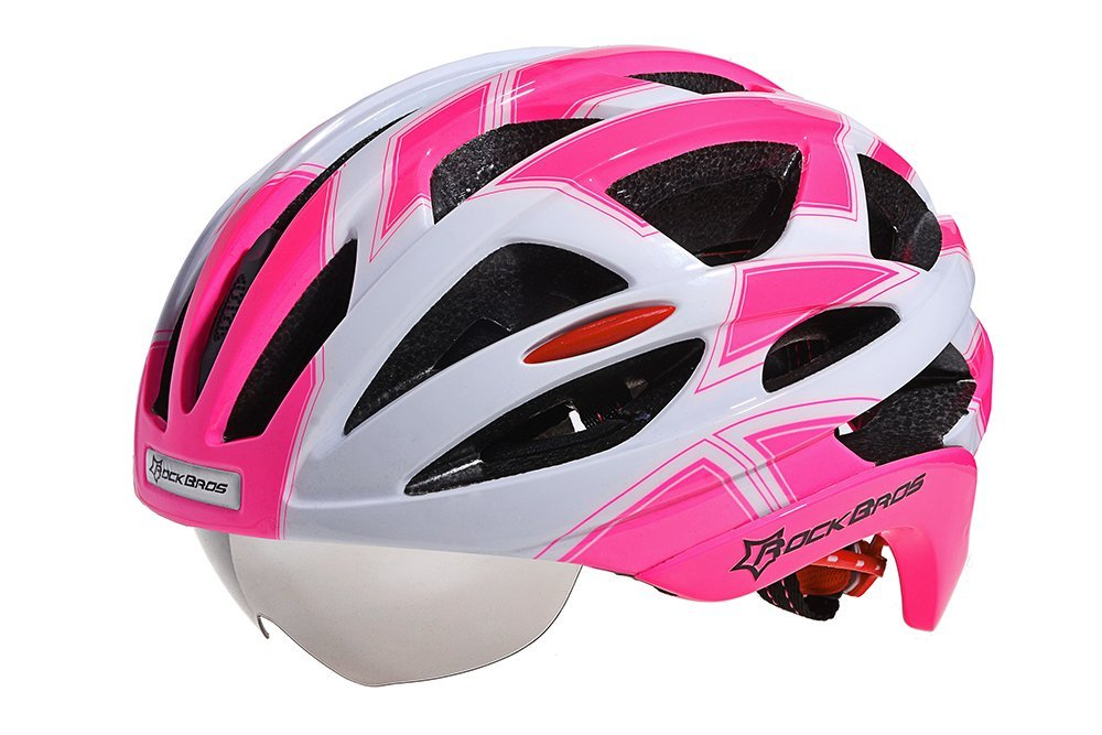 Pink RockBros Bicycle Helmets