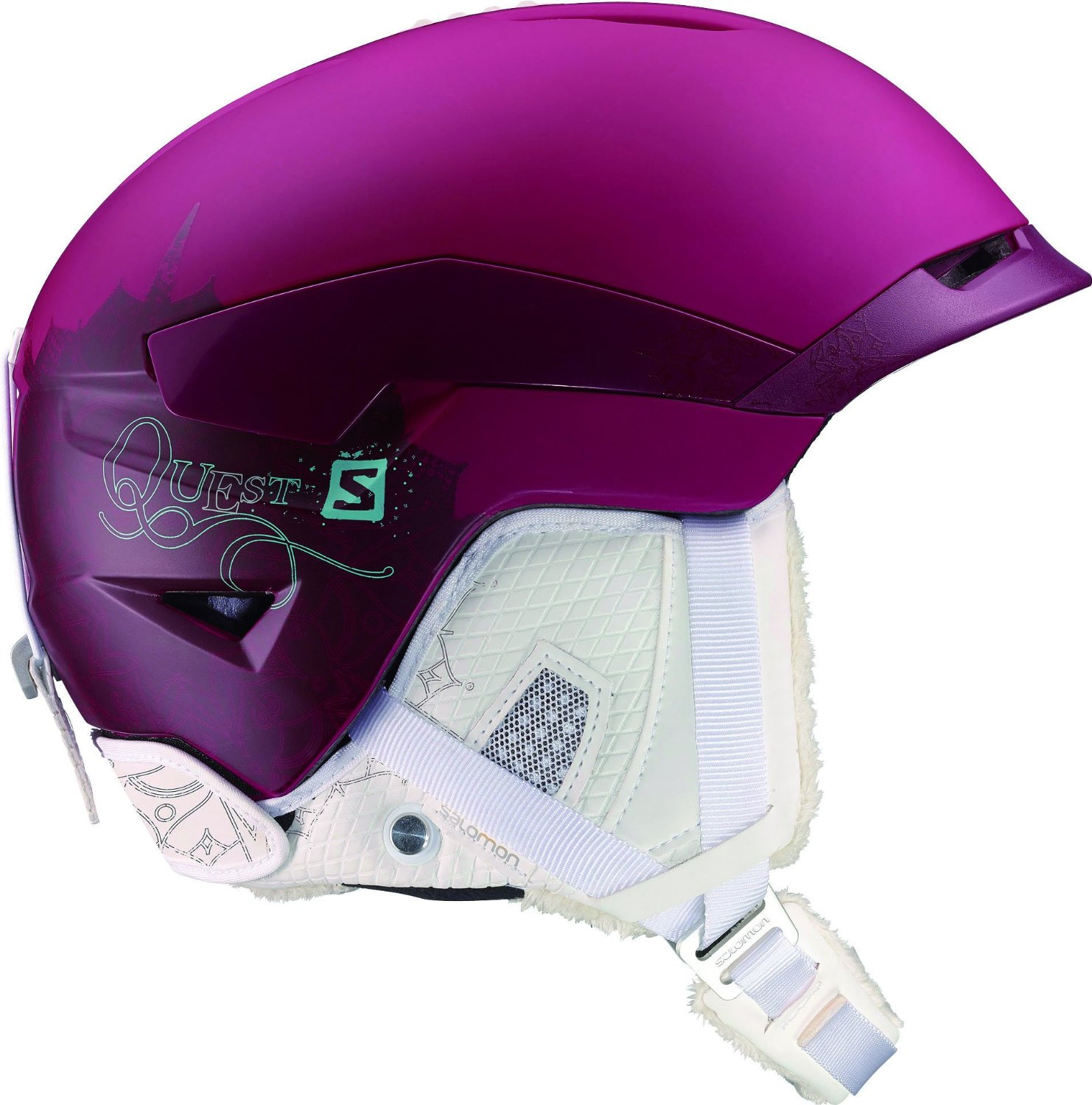 Purple Salomon Bicycle Helmets