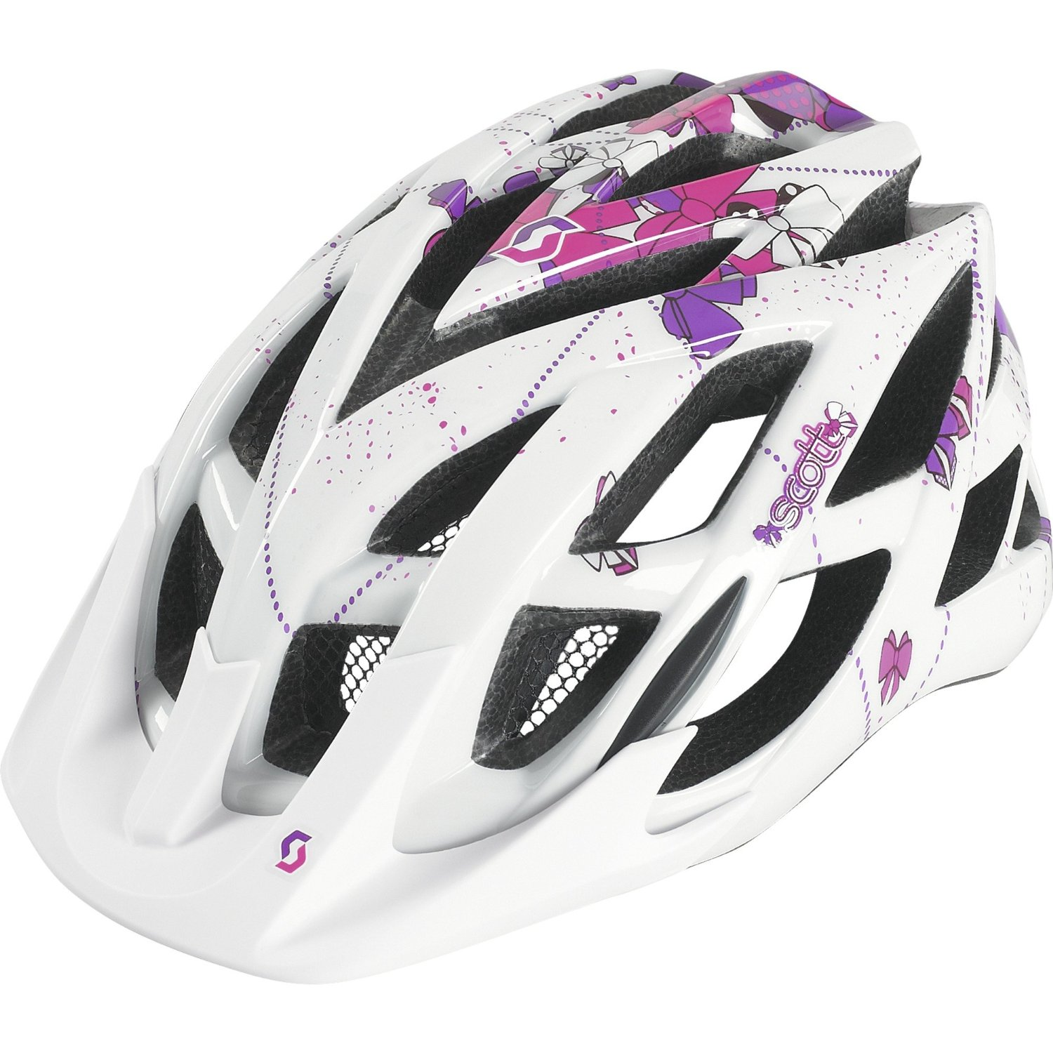 Purple SCOTT Bicycle Helmets