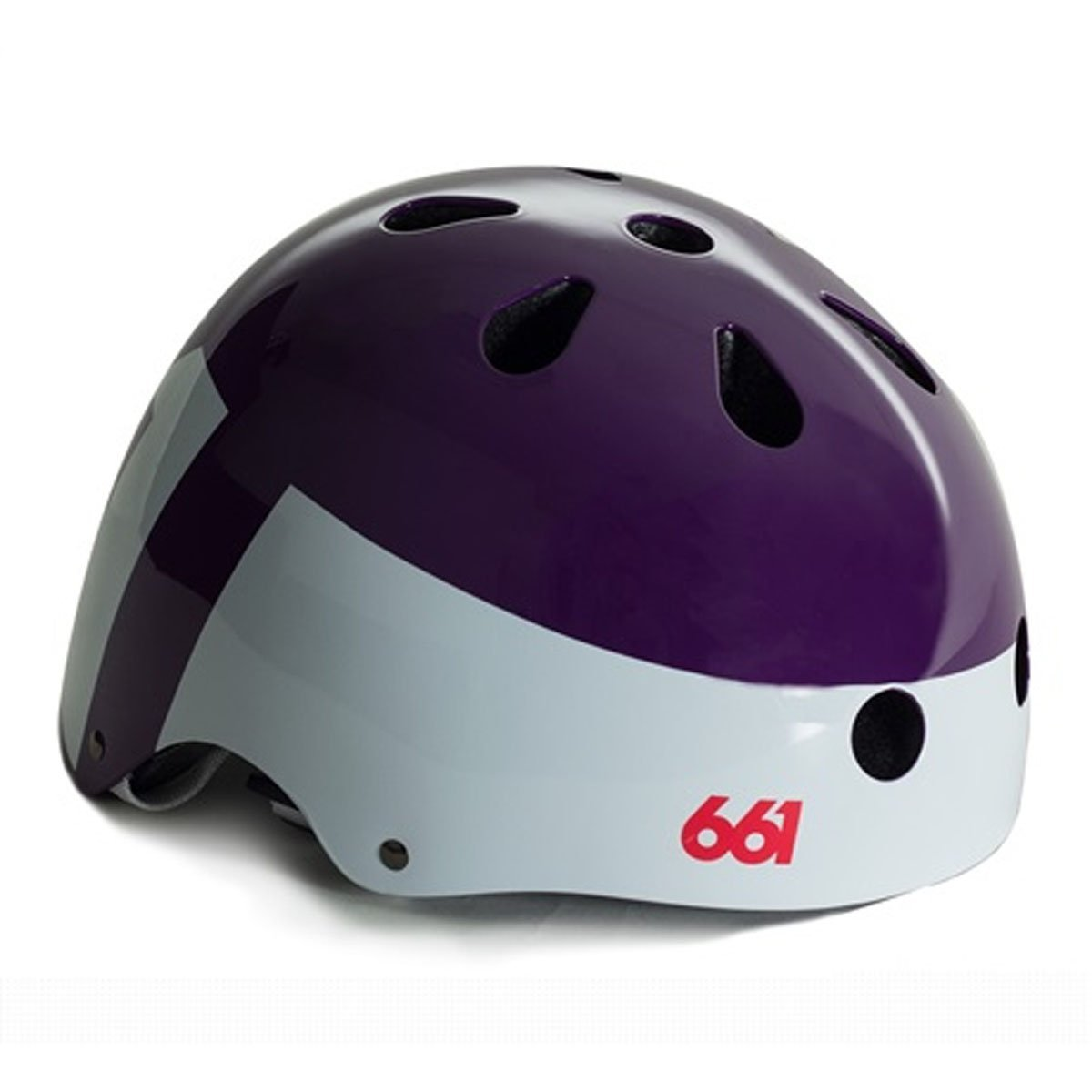 Purple SixSixOne Bicycle Helmets