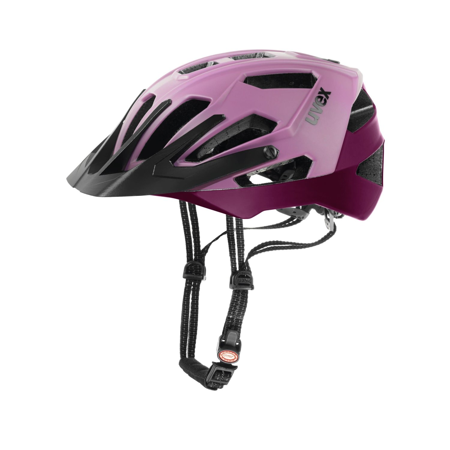 Purple Uvex Bicycle Helmets