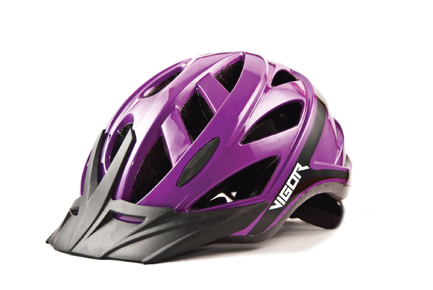 Purple Vigor Bicycle Helmets