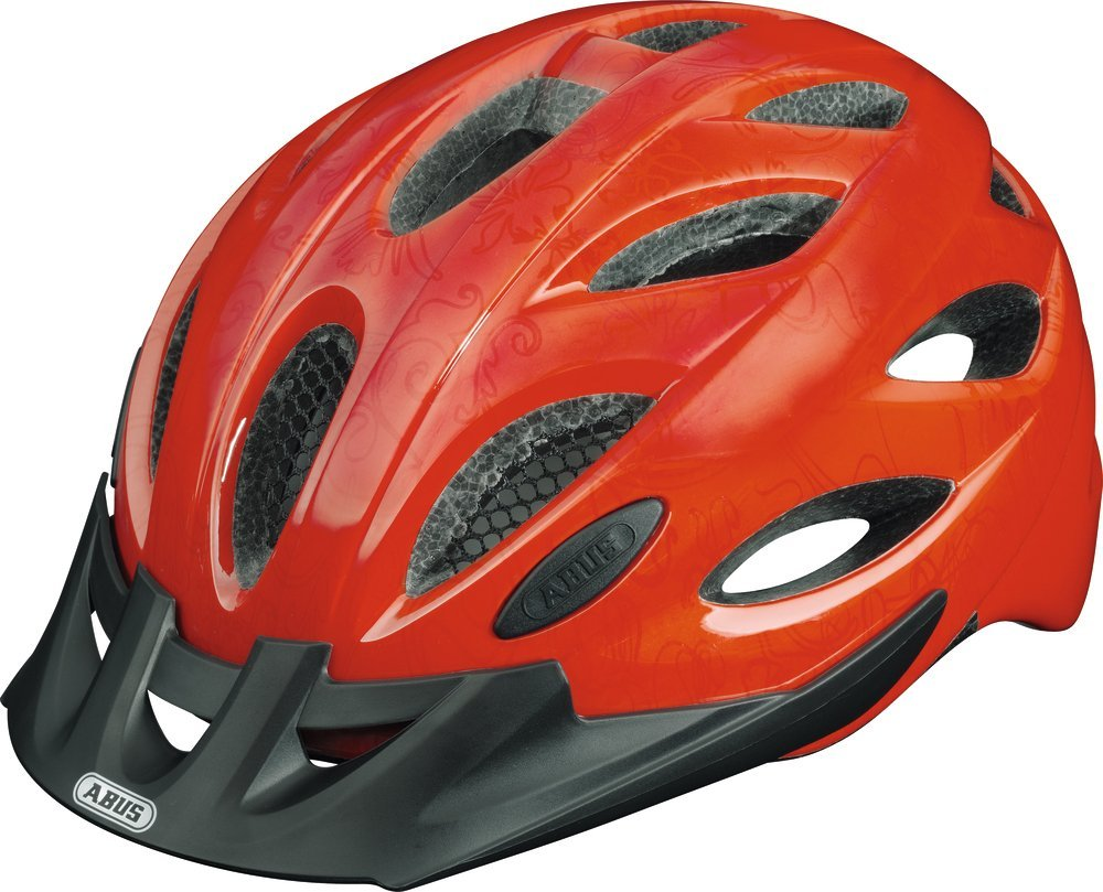 Red Abus Bicycle Helmets