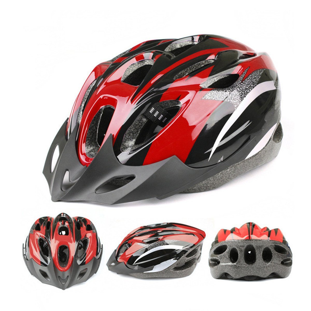 Red ECYC Bicycle Helmets