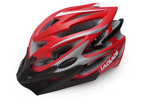 Red Laplace Bicycle Helmets