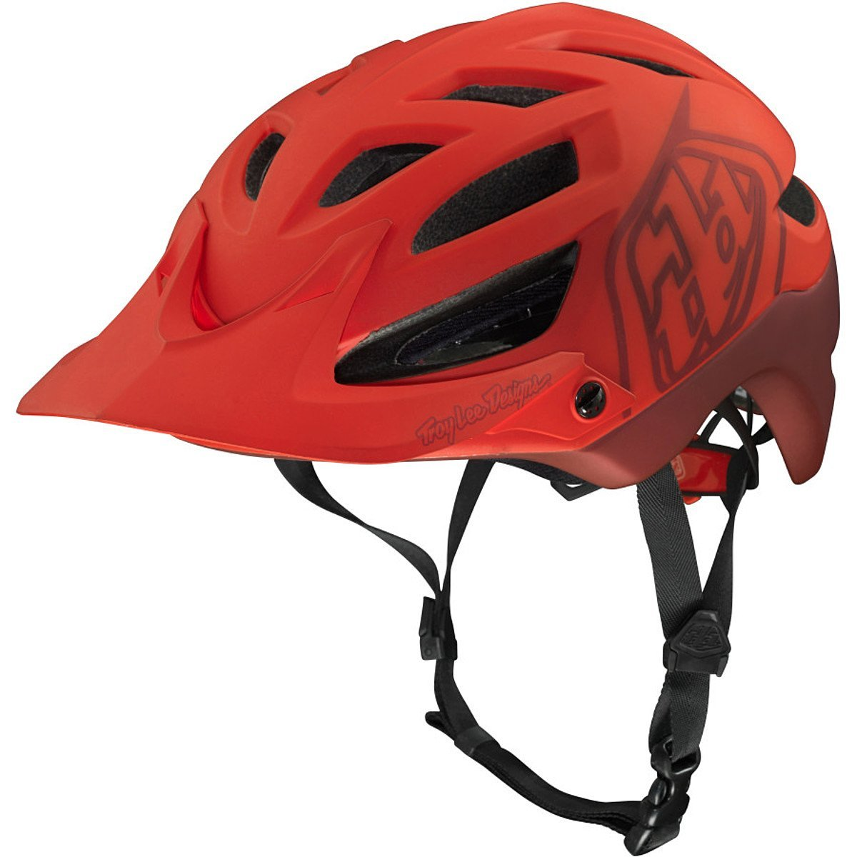 Red Troy Lee Designs Bicycle Helmets