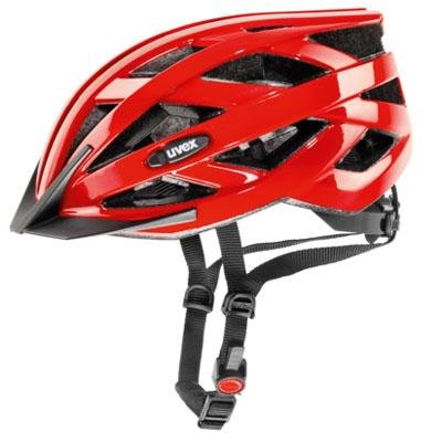 Red Uvex Bicycle Helmets