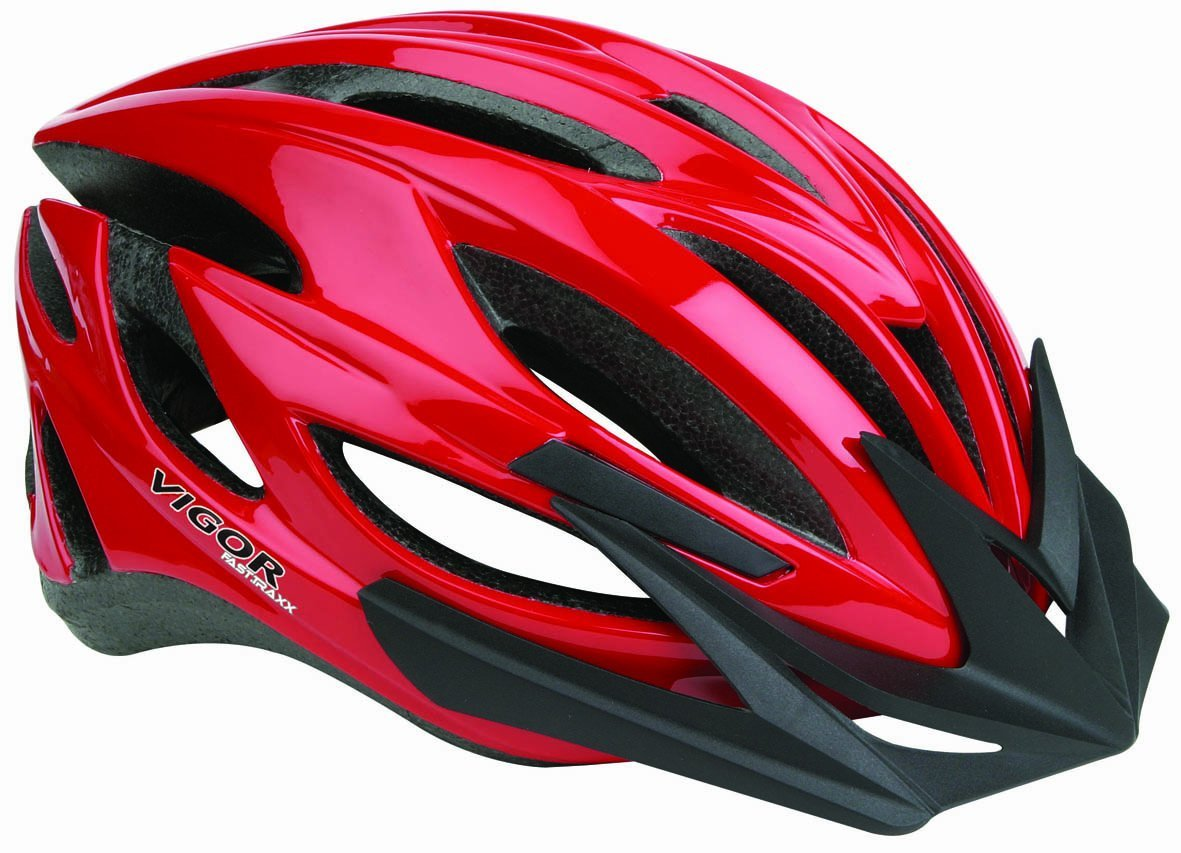 Red Vigor Bicycle Helmets