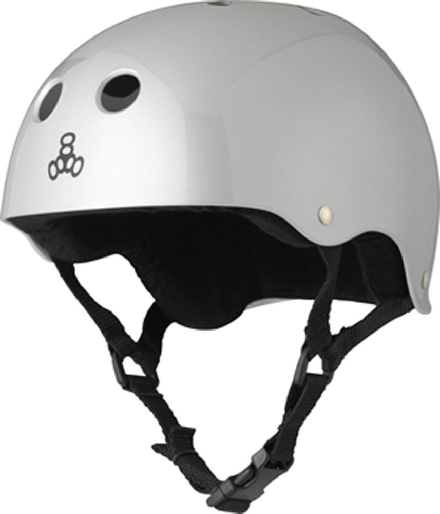 Silver Triple Eight Bicycle Helmets