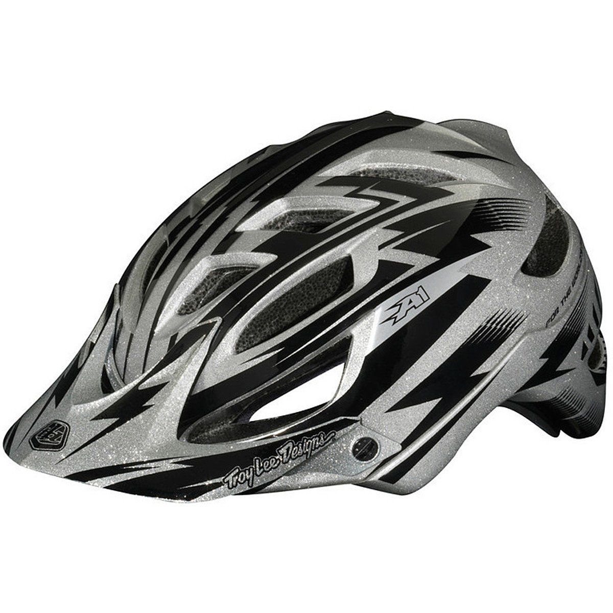 Silver Troy Lee Designs Bicycle Helmets