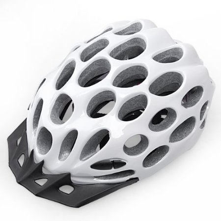 White 99 Parts Bicycle Helmets