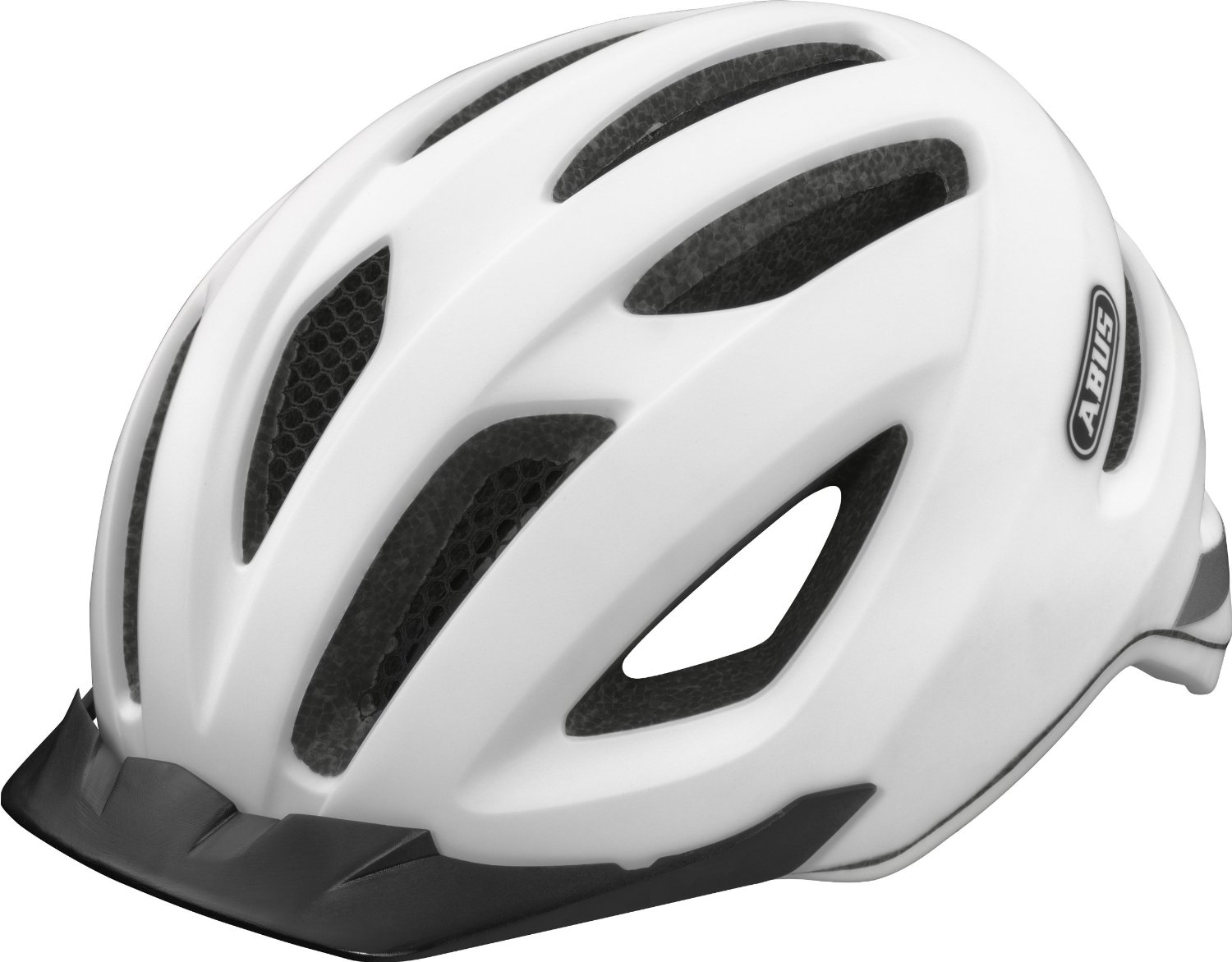 White Abus Bicycle Helmets