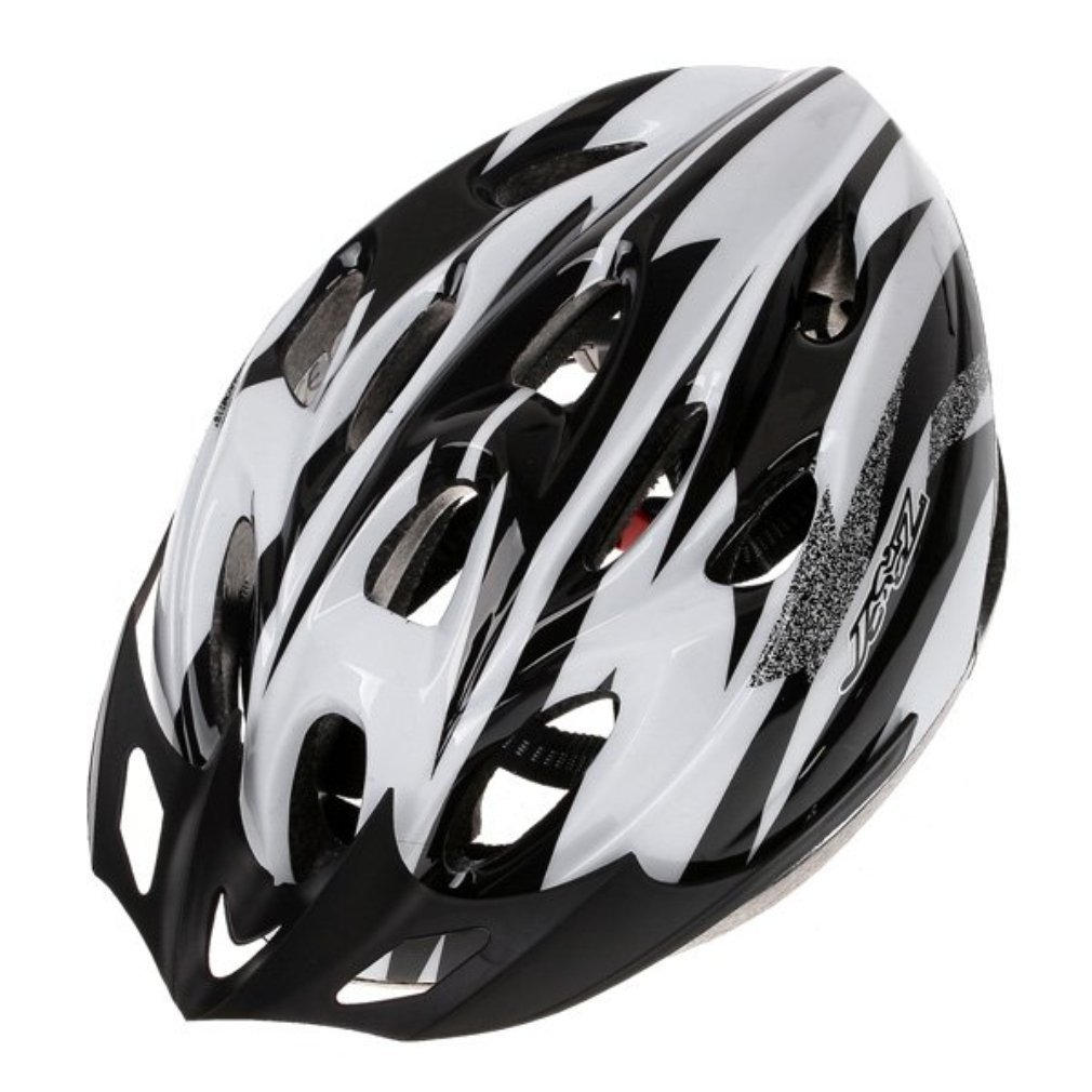 White B&F Bicycle Helmets