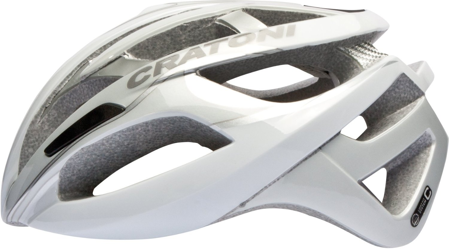 White Cratoni Bicycle Helmets