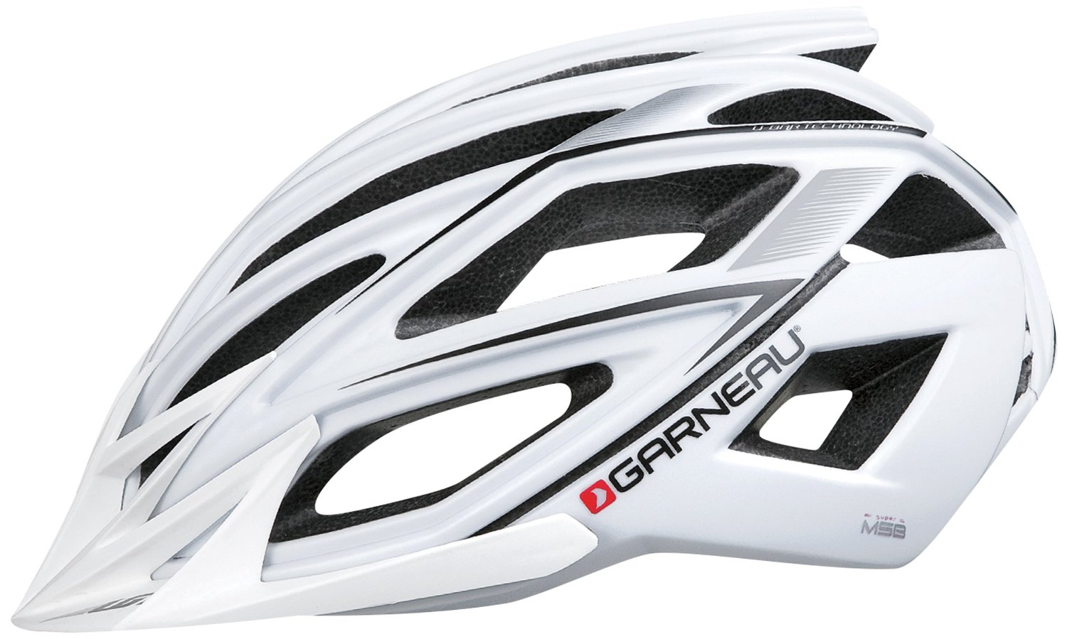 White Garneau Bicycle Helmets