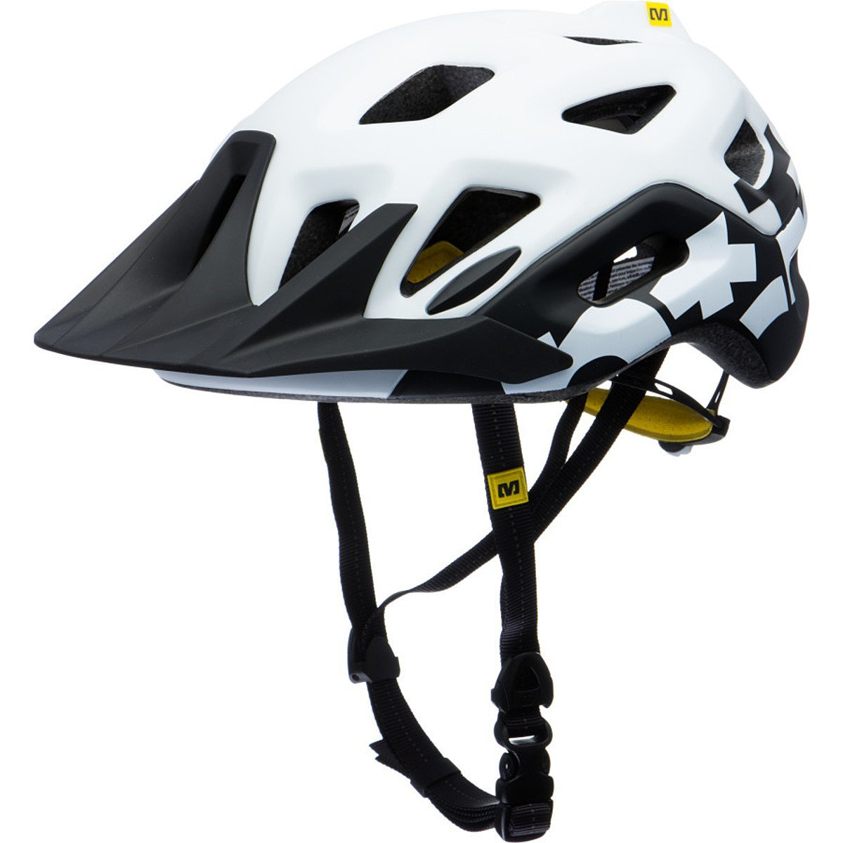 White Mavic Bicycle Helmets