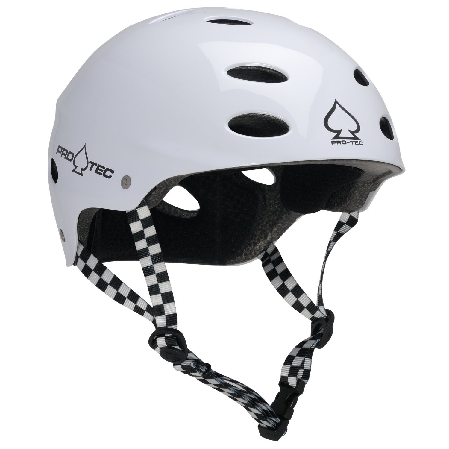 White ProTec Bicycle Helmets