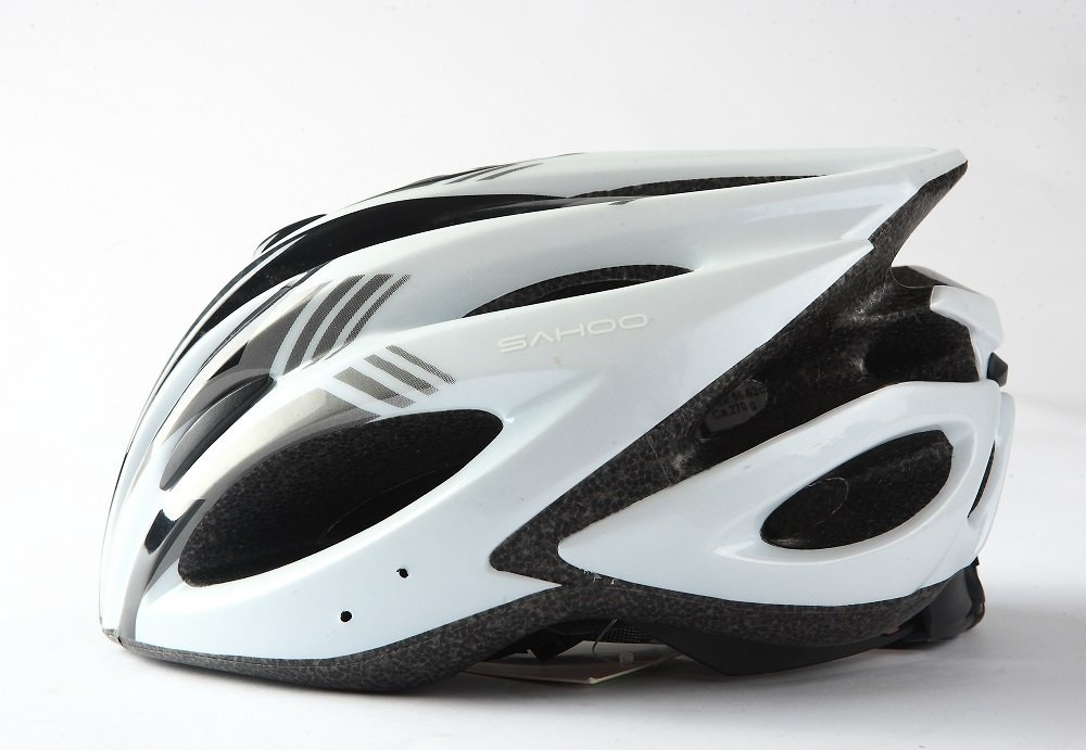White SAHOO Bicycle Helmets