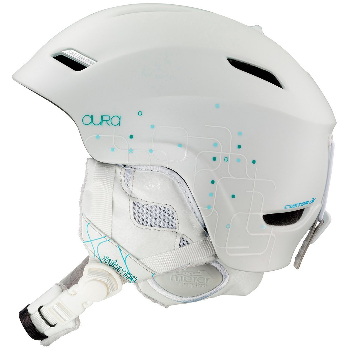 White Salomon Bicycle Helmets
