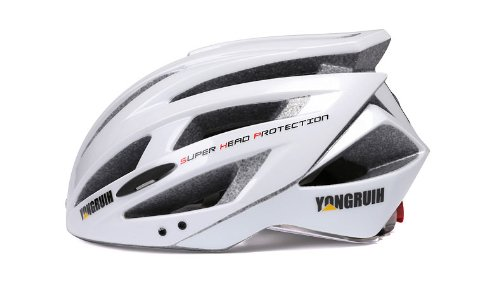 White Tourequi Bicycle Helmets