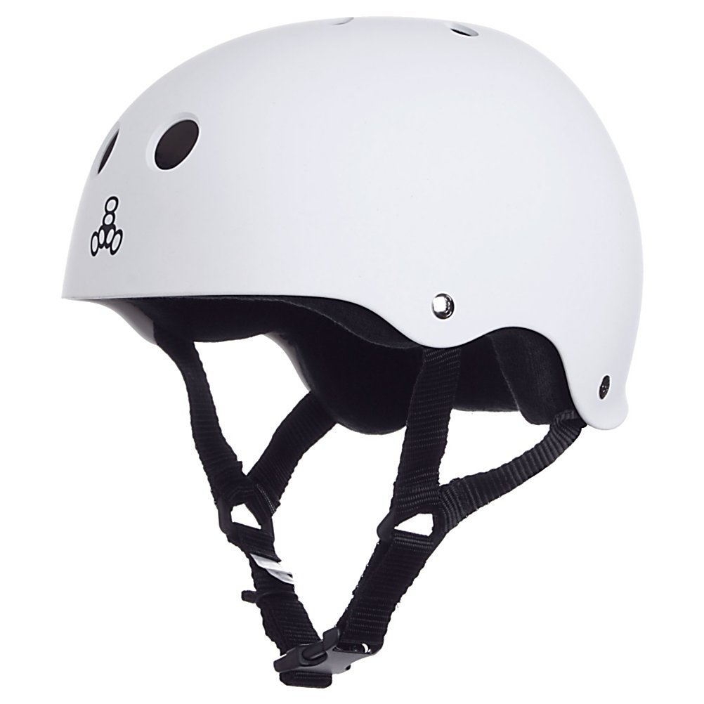 White Triple Eight Bicycle Helmets