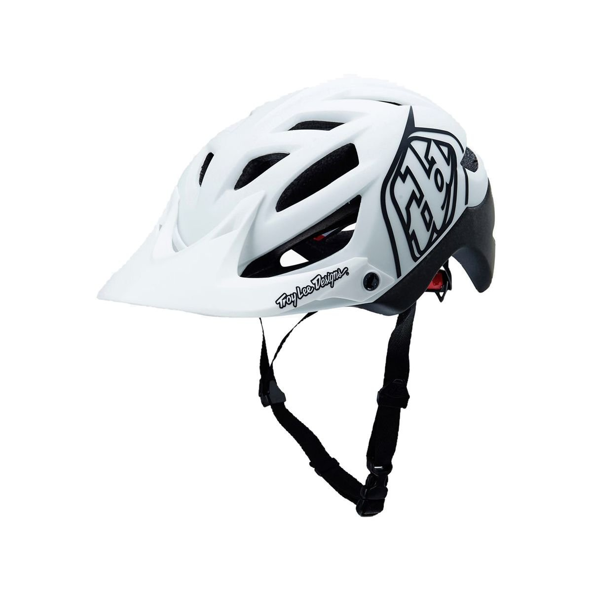 White Troy Lee Designs Bicycle Helmets