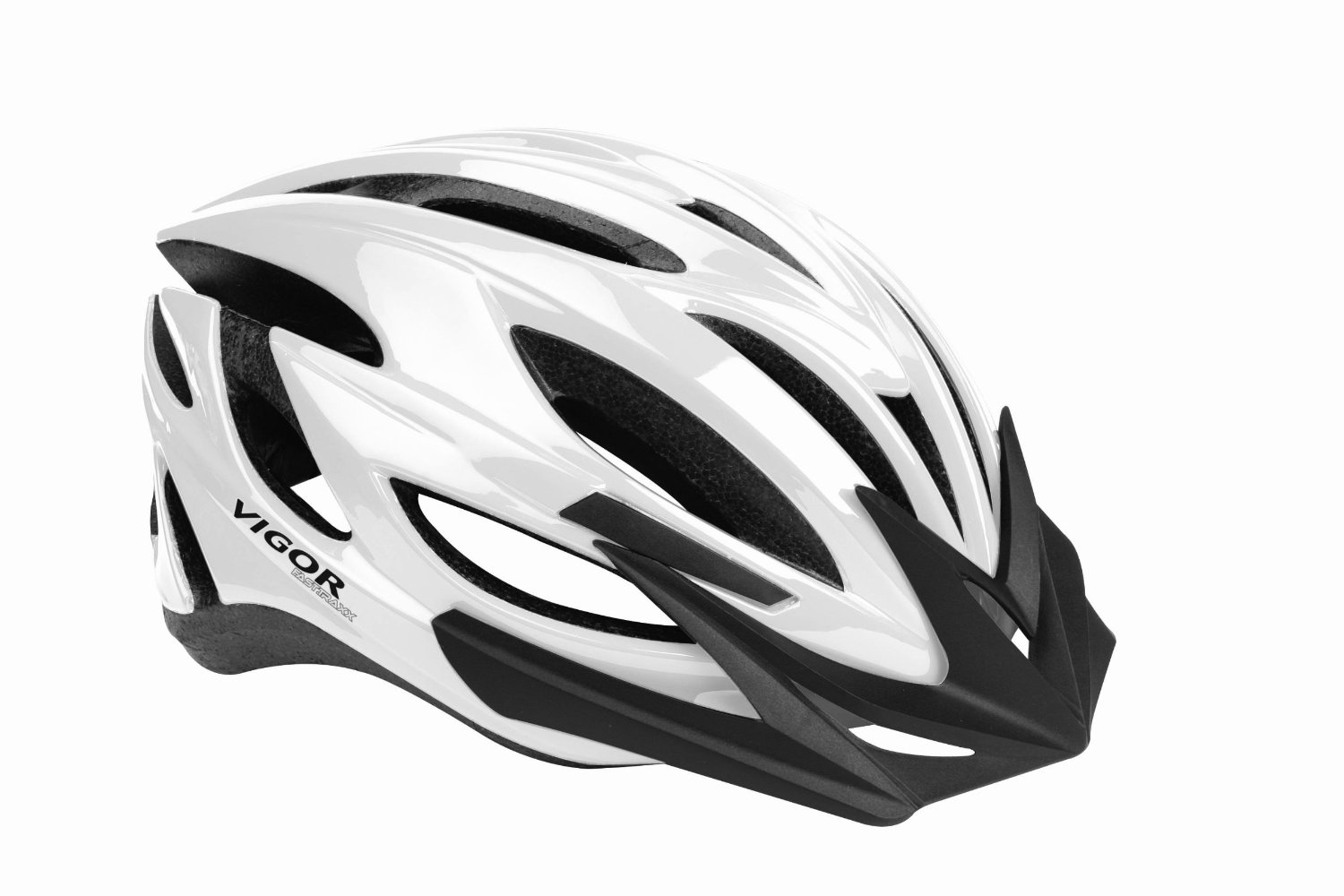 White Vigor Bicycle Helmets