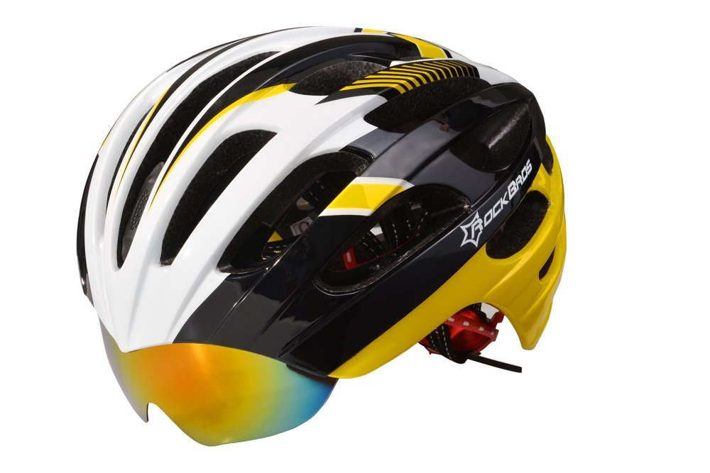 Yellow RockBros Bicycle Helmets